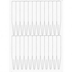 Cartellini per stampante laser - 10 fogli (240 cartellini)